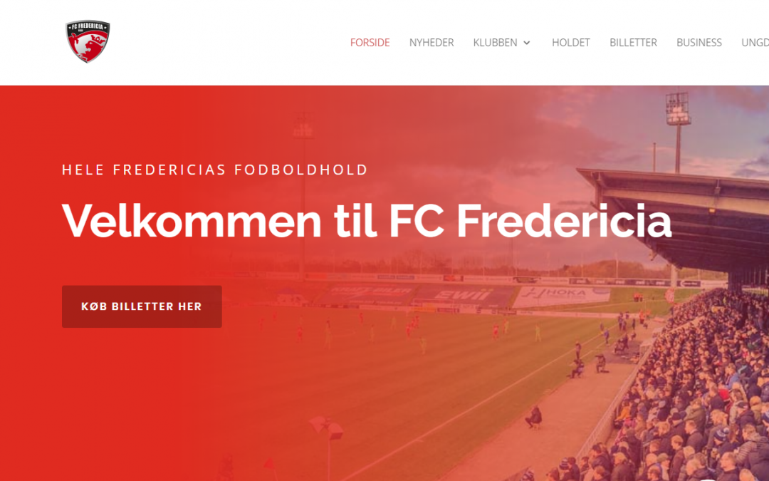 Nyt website for FC Fredericia